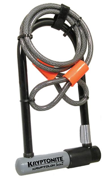 Kryptonite Kryptolok Series 2 STD U Lock with KryptoFlex Cable