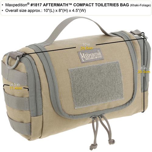 Maxpedition Aftermath Compact Toiletries Bag 1817K Khaki