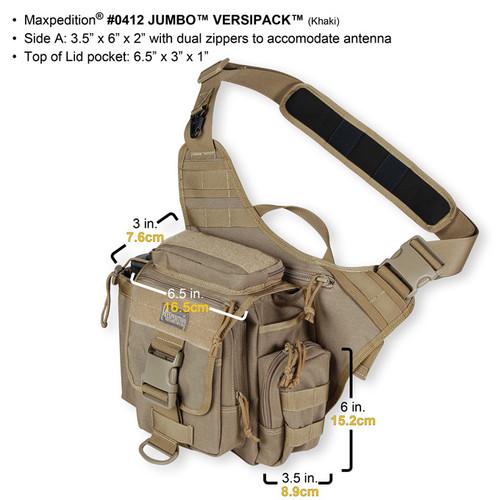 Maxpedition Jumbo Versipack Khaki 0412K