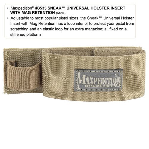 Maxpedition SNEAK Holster Insert Black 3535B