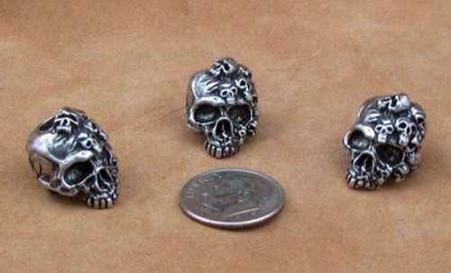 Schmuckatelli Bead Mind Skull - Pewter