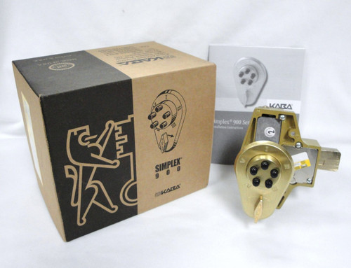 Kaba Ilco Simplex 90400000441 Deadbolt Brass