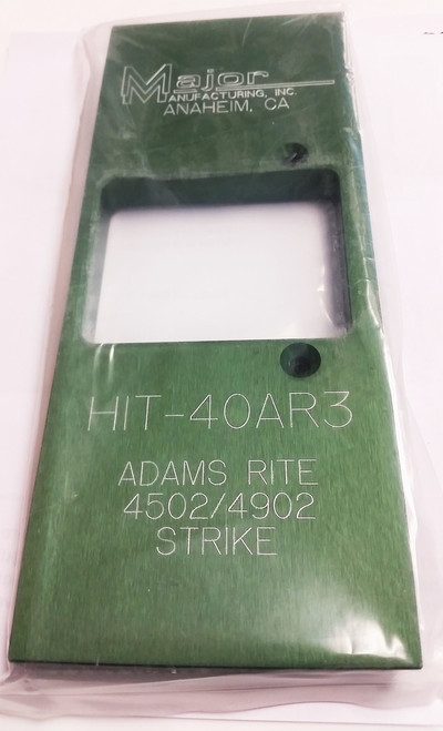 Major Manufacturing HIT-40AR3 Installation Template for Adams Rite