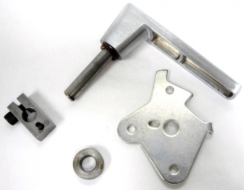 These are all the parts that complete the Major Safe home safe handle replacement kit.