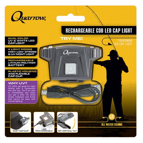 Quarrow Rechargeable COB LED Cap Light Fishing Hunting