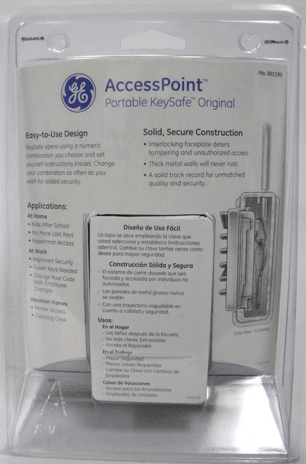 GE Access Point Portable Keysafe Original Spare Key Storage