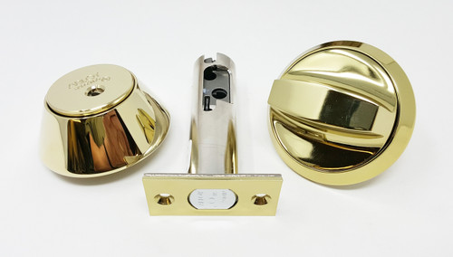 Abloy Protec2 Single Cylinder Deadbolt US3 Polished Brass ME153T