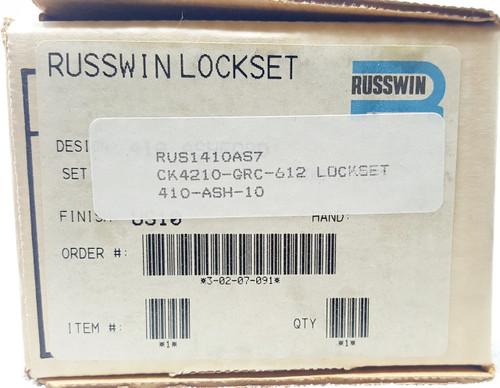 Russwin Heavy Duty Commercial Knob Passage Satin Bronze CK4210-GRC-612 NOS