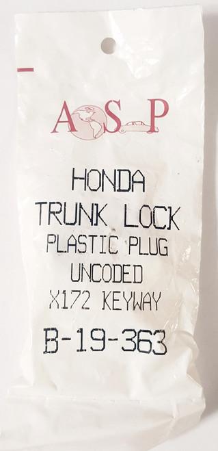 ASP Honda Trunk Plastic Plug Uncoded X172 Keyway B-19-363