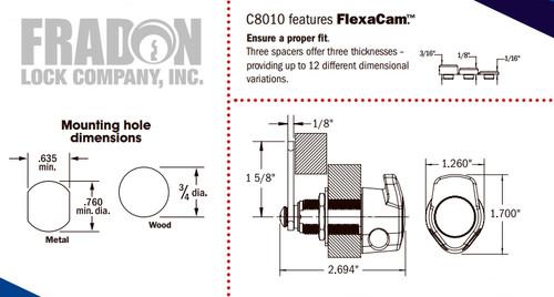 National C8010-15 Padlockable Cam Lock