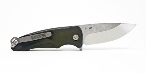 Medford Knife & Tool Smooth Criminal Green Tumbled S35VN