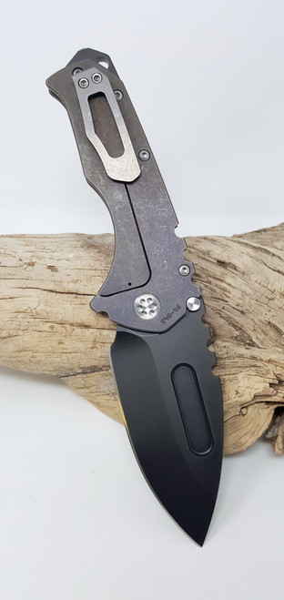 Medford Knife Tool Praetorian T Drop Point Custom Machinist Theme PVD CPM  3V