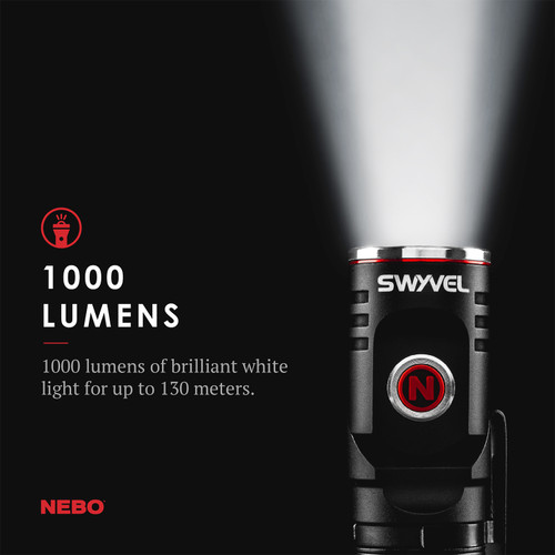 Nebo Tools Swyvel Flashlight 1000 Lumen USB Rechargeable