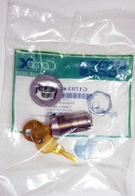 "Chicago Cam Lock 1703 KD 1 3/16"" Length"