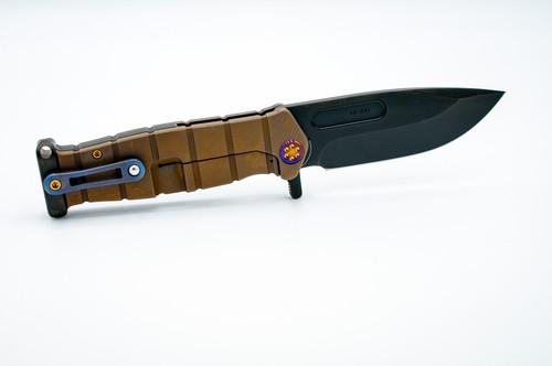 MKT USMC Fighter Flipper Custom Knife Apocalyptic Theme S35VN