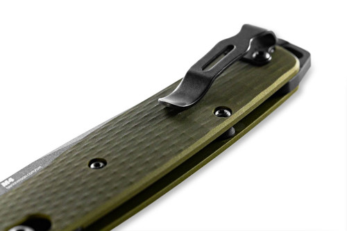 Benchmade Bailout CPM-M4 Green Aluminum Handle (BM537GY-1)