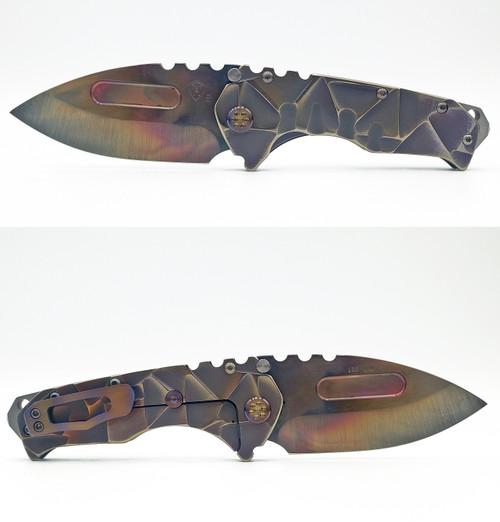 Medford Knife & Tool Praetorian T Vulcan Drop Point S35VN Custom Stained Glass