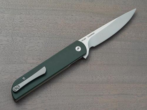 FINCH KNIFE CIMARRON - DARK GREEN & TAN G10 W/14C28N