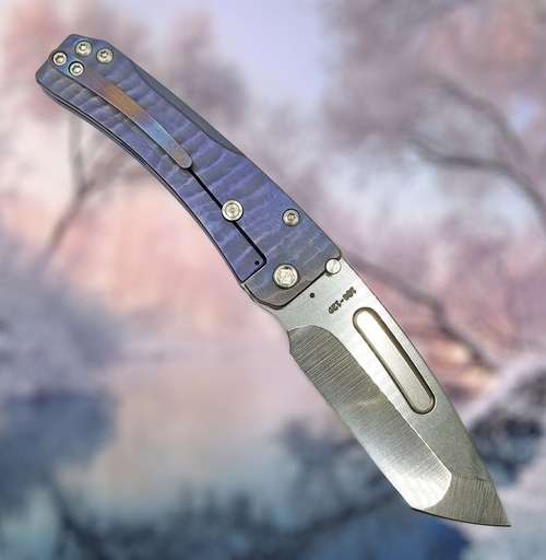 "Medford Knife & Tool Slim Midi Custom Sculpted ""Water Ripples"" CPM S35VN"