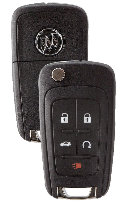Strattec 5912559 Buick 5 Button PEPS Remote Flip Key