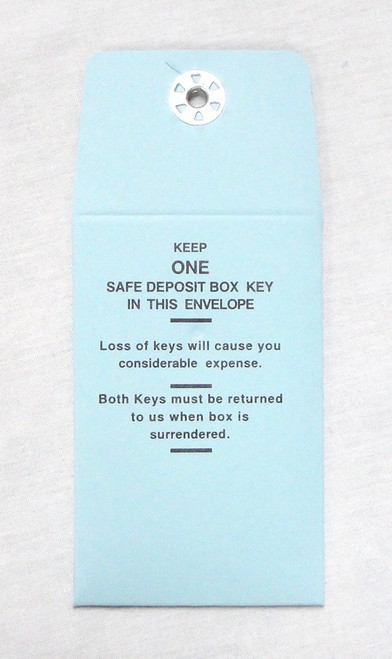 MMF Industries Safe Deposit Key Vault Envelopes Set of 5 Light Blue