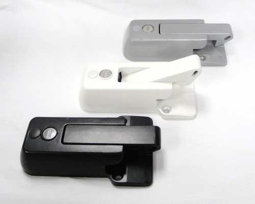 RV Bar Lock Black, Gray, or White Powdercoat