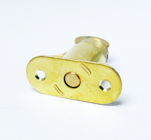 CCL 02290 Sliding Door Lock Satin Brass 7/8""