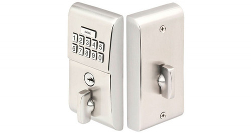 Emtek E1020 Push Button Keypad Deadbolt Satin Nickel