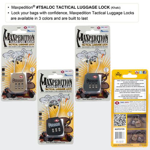 Maxpedition TSA Loc Luggage Lock Flexible Shackle