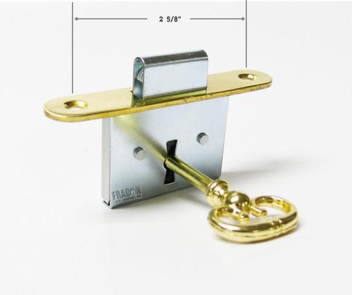 Round Corner Desk Lock Brass 70074553