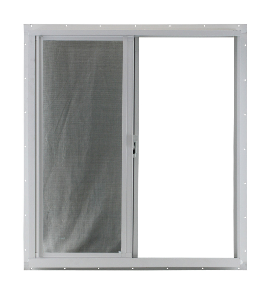 24 x 27 Horizontal Sliding Window White Flush Mount (Back)