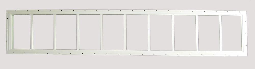 "12"" x 60"" USA Made Shed Transom Window"