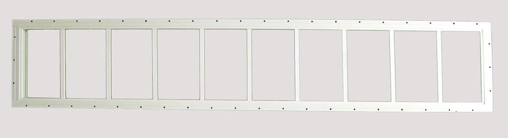 "12"" x 72"" USA Made  Shed Transom Window"