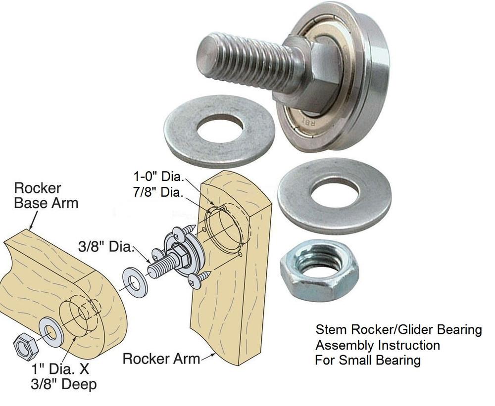 """Stem Rocker Bearing 7/8""""OD  Set of 4 FREE SHIPPING"""