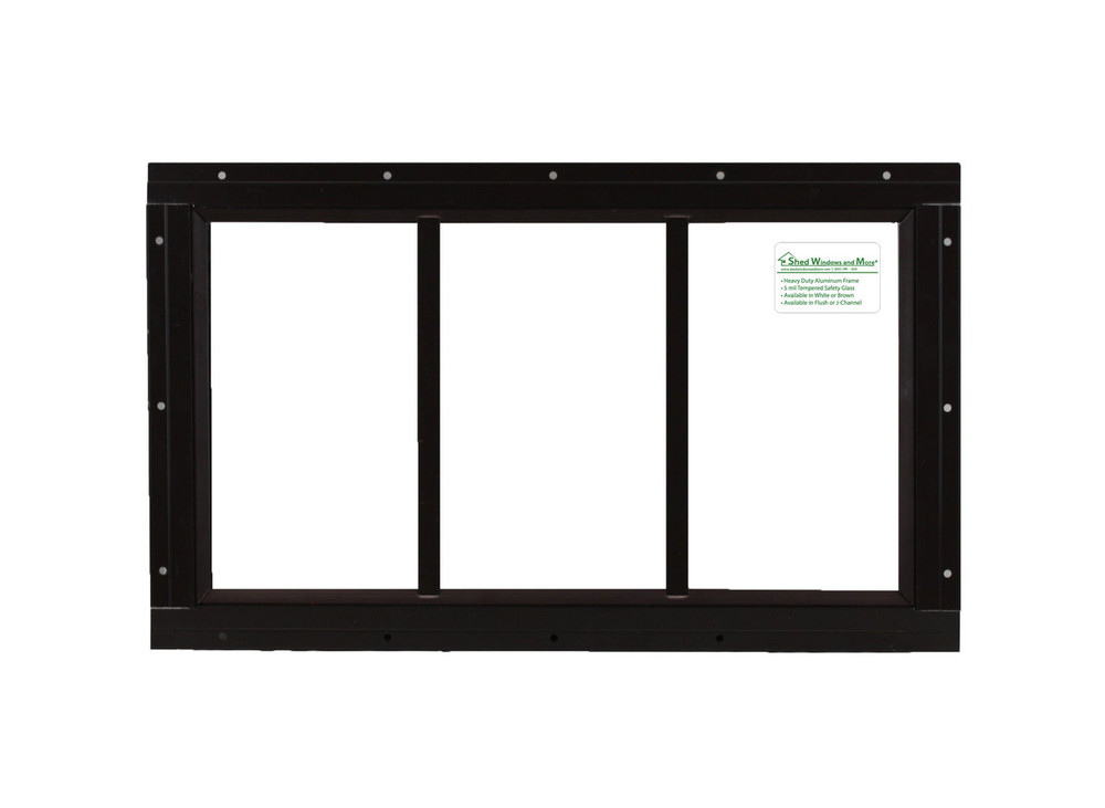 "10"" x 18"" Brown Flush Transom Window"