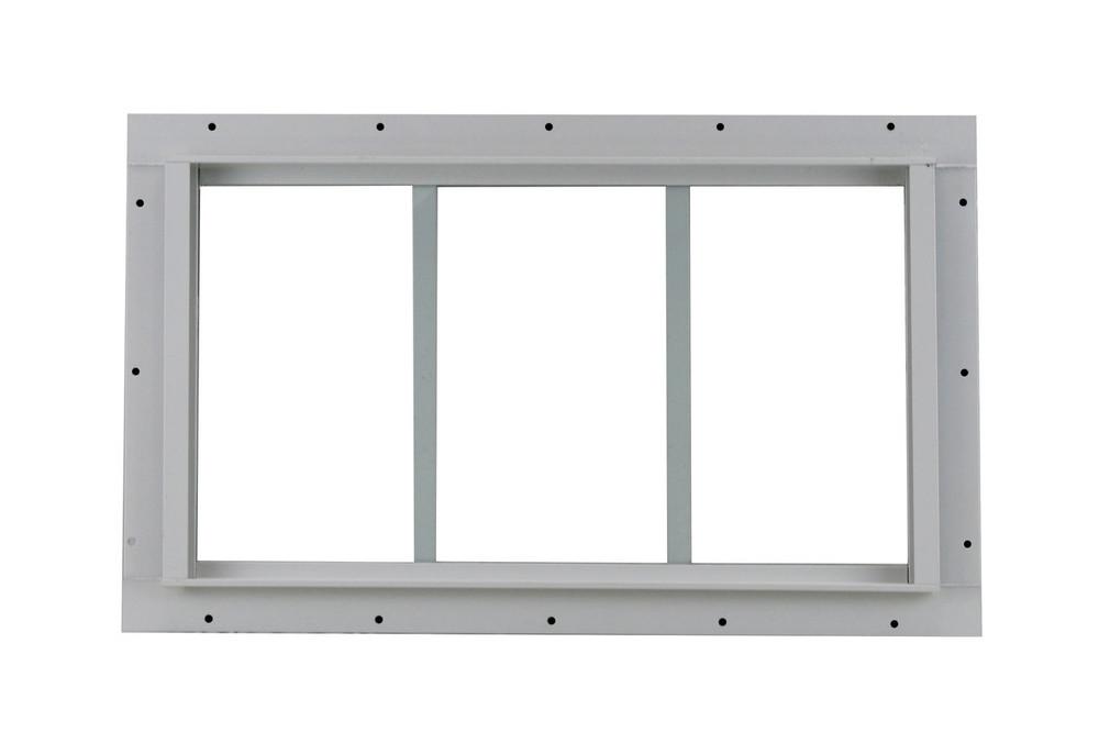 "10"" x 18"" White J-Channel Transom Window"