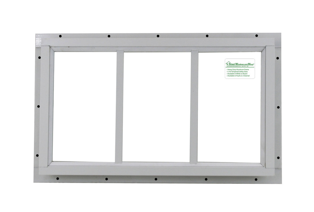 "10"" x 18"" White J-Channel Transom Window"