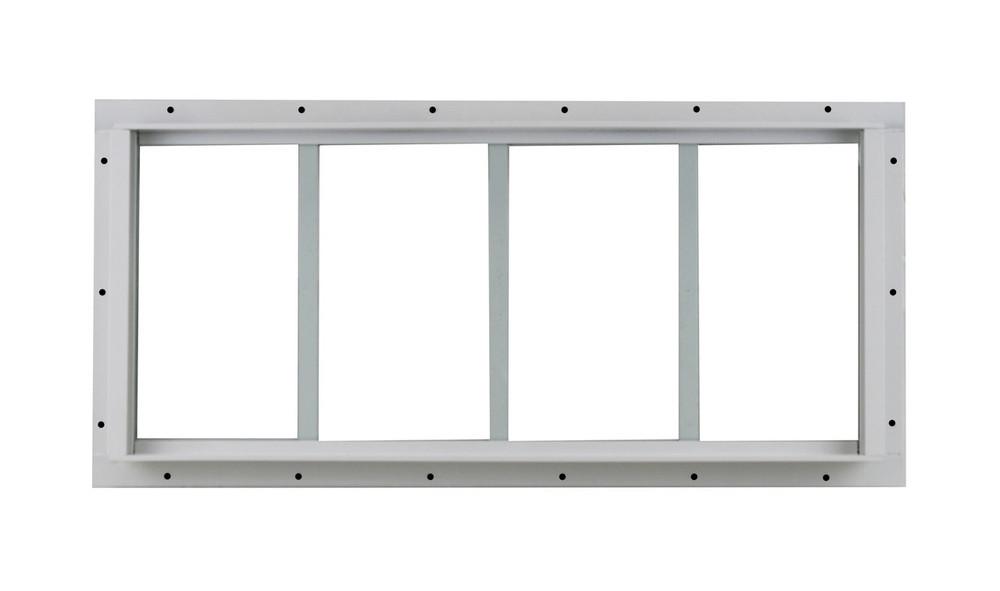 "10"" x 23"" White Flush Transom Window"