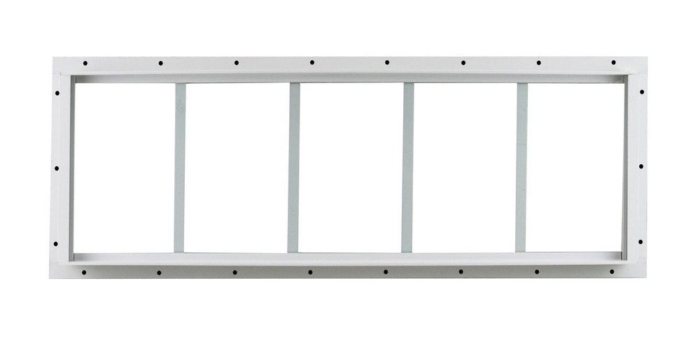 "10"" x 29"" White Flush Transom Window"