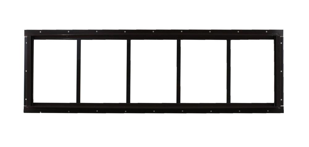 "10"" x 35"" Brown Flush Transom Window"