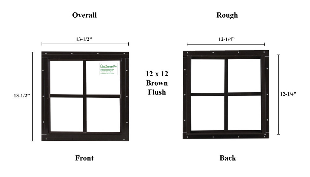 """12"""" x 12"""" Square Window - Safety Glass"""