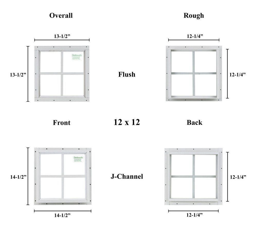 "12"" x 12"" Square Window - Safety Glass"