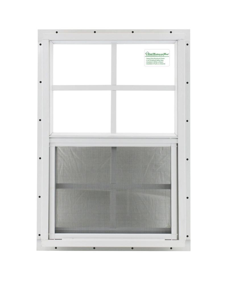 """12"""" x 18"""" White J-Channel Chicken Coop Window"""