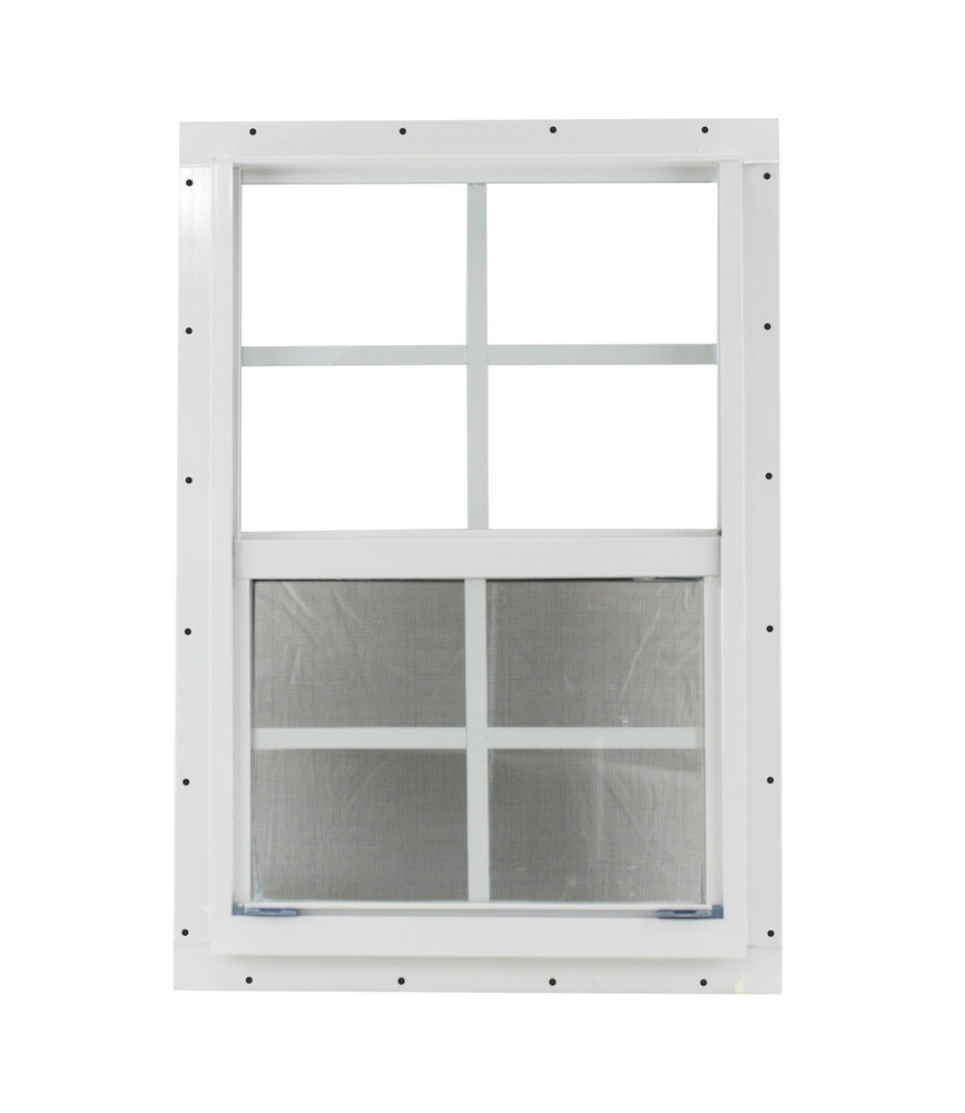 "14"" x 21"" White J-Channel Window Play House, Tree House and Shed Window"