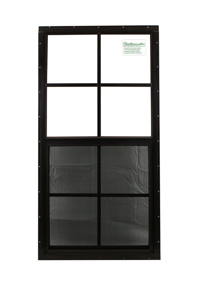 """14"""" x 27"""" Brown Flush Windows Play House, Tree House and Shed Window"""