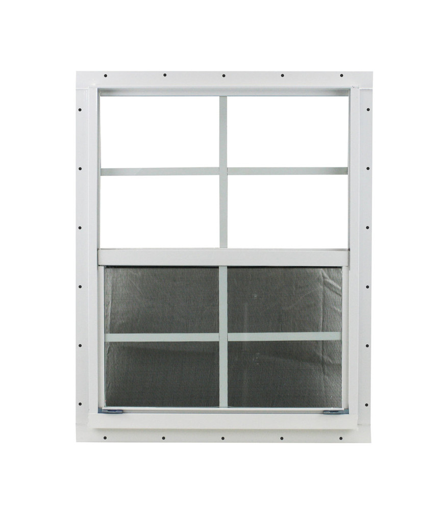 "18"" x 23"" White J-Channel Windows Play House, Tree House and Shed Window"