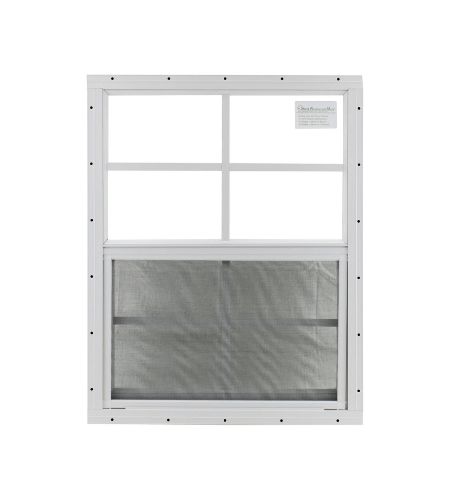 """18"""" x 23"""" White Flush Windows Play House, Tree House and Shed Window"""