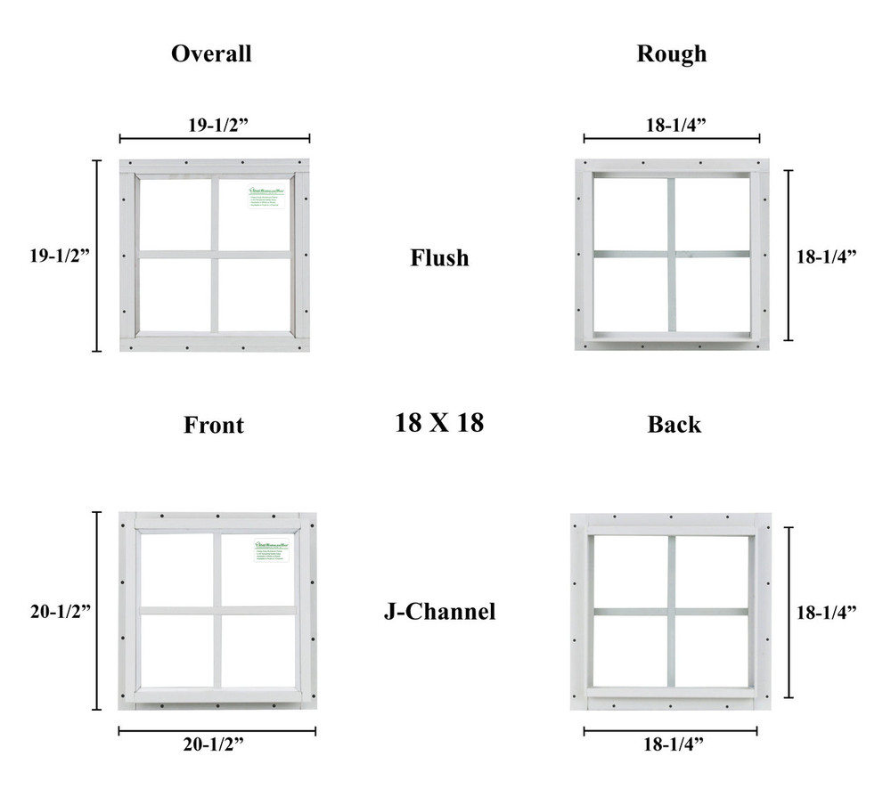 """18"""" x 18"""" Square Window - Safety Glass"""