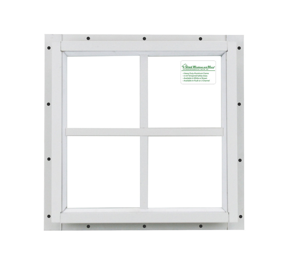 16x16 White J-Channel Play House, Tree House and Shed Window