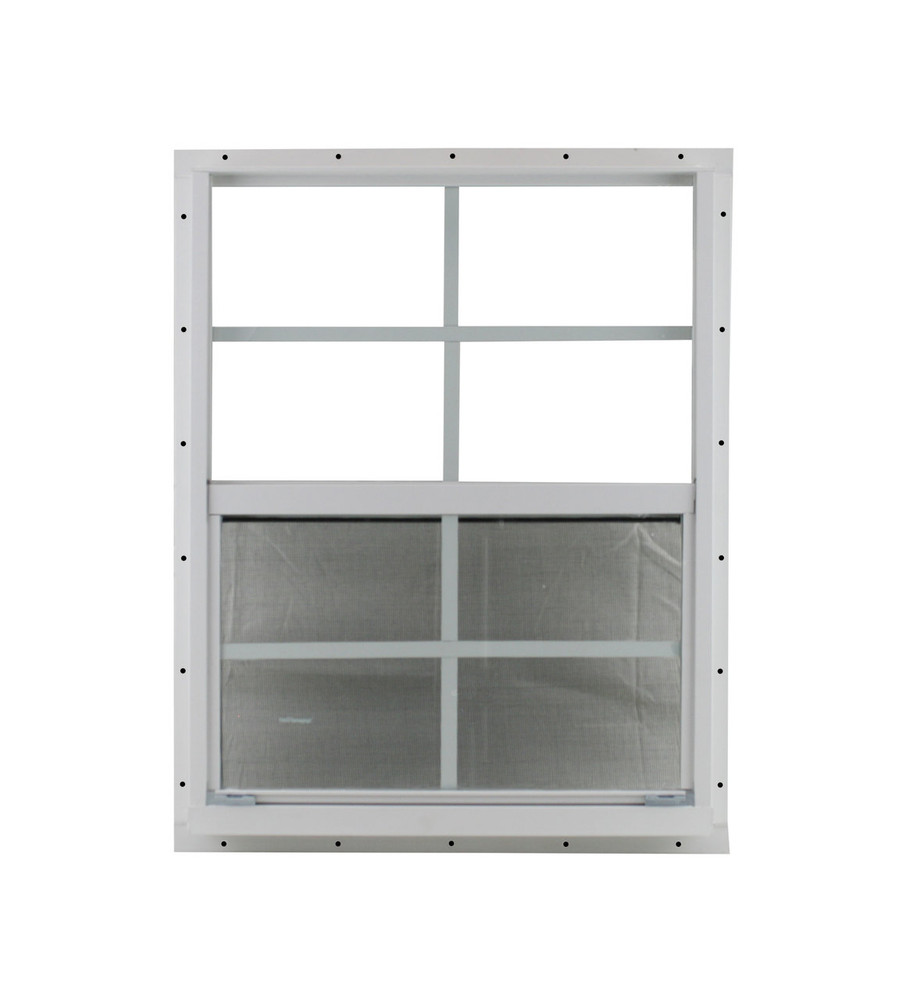 "21"" x 27"" White Flush Shed Window"
